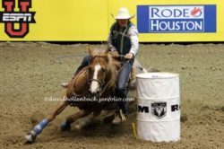 Brooke-running-barrels-on-Cause-Ima-Peppy-Roan-Pepper-at-the-14-CNFR. harrington hirschy horses